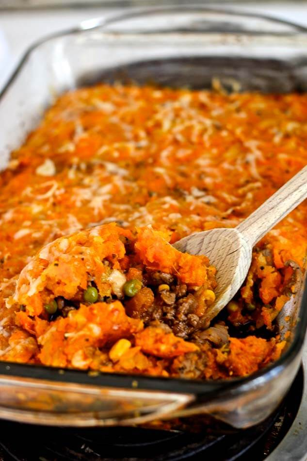 Healthy Shepherd's Pie with Carrot & Rutabaga Mash