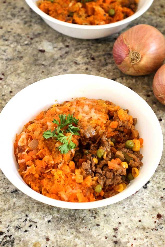 Healthy Shepherd's Pie with Carrot & Rutabaga Mash