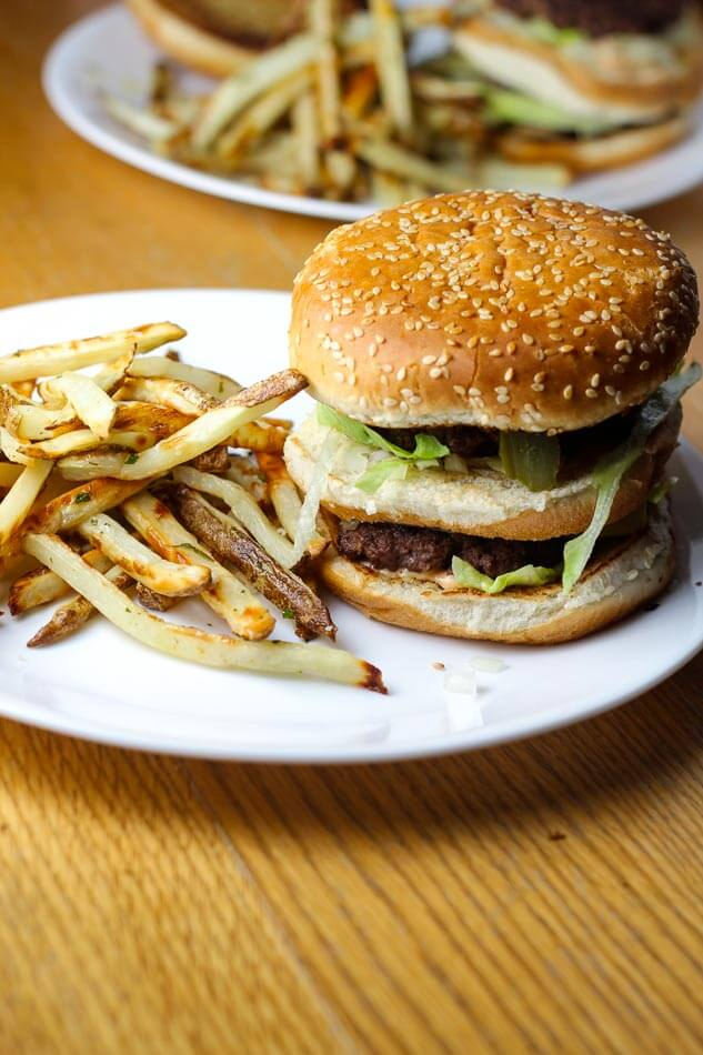 homemade big mac recipe and fries the girl on bloor. Black Bedroom Furniture Sets. Home Design Ideas