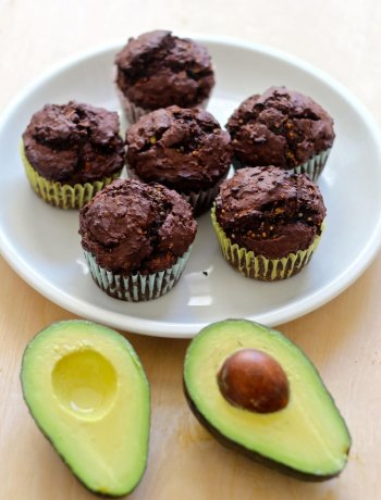 Avocado-Chocolate-Muffins