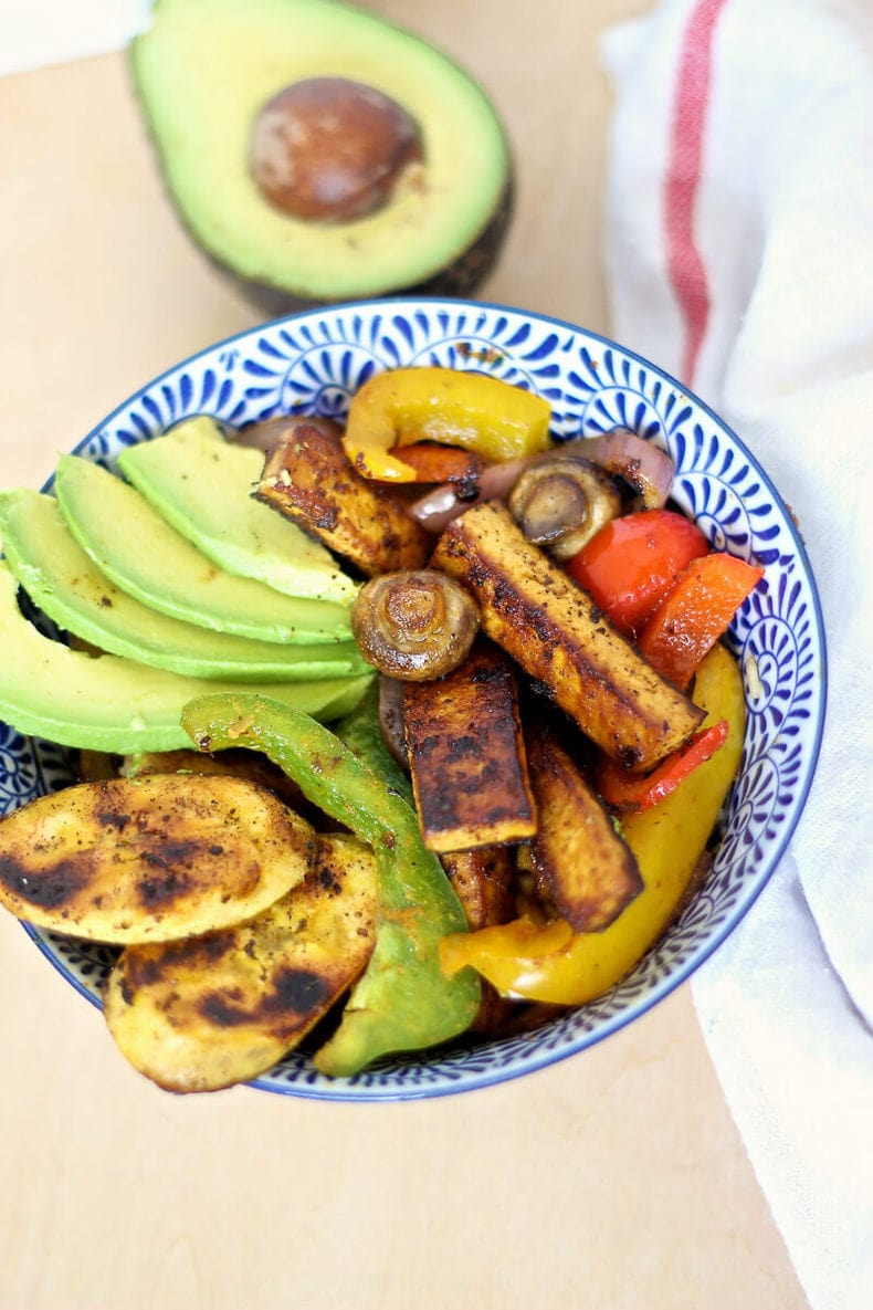 Caribbean BBQ Tofu Vegetable Bowl-2