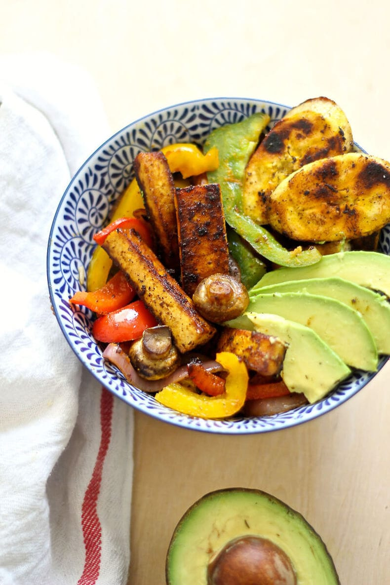 Caribbean BBQ Tofu Vegetable Bowl