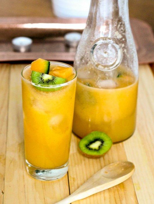 Cantaloupe, Kiwi & Lime Refresher