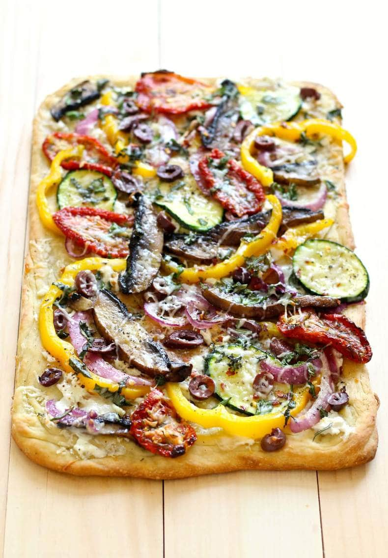 roasted vegetable flatbread - the girl on bloor