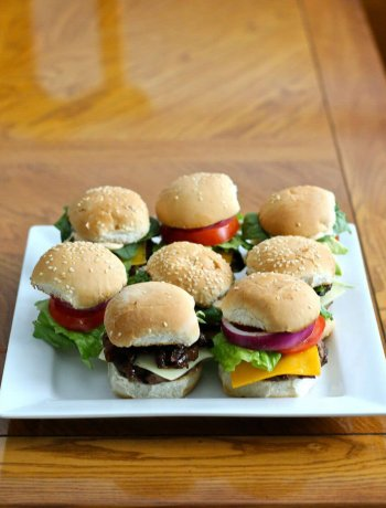 Bison, Beef and Turkey Burger Sliders