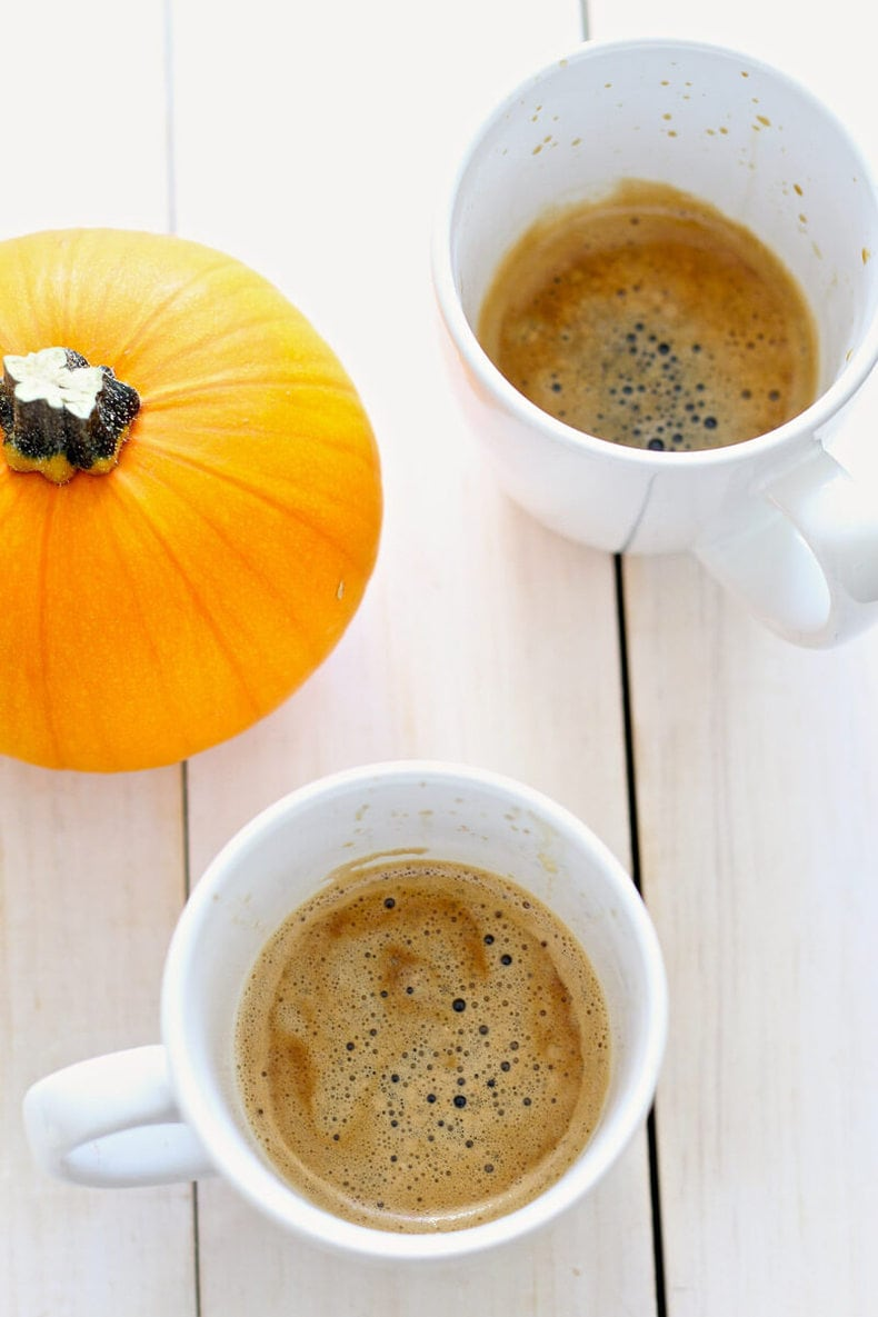 Pumpkin Spice Lattes with Real Pumpkin Puree
