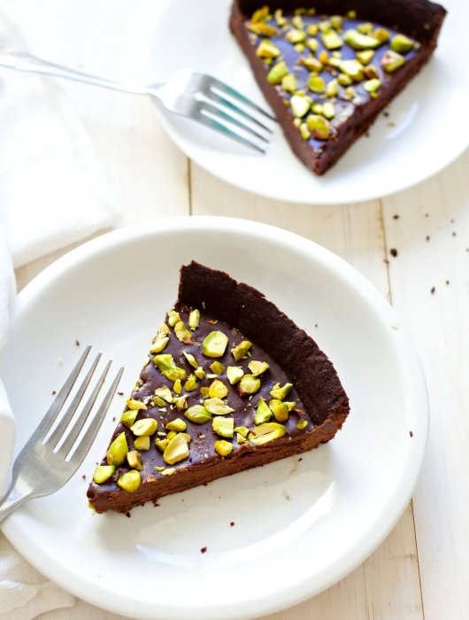 Salted Pistachio Chocolate Tart