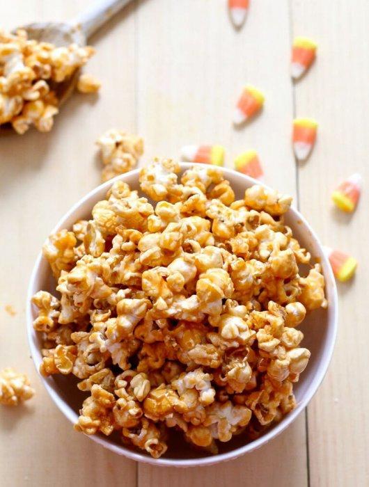 Candy Corn Caramel Popcorn