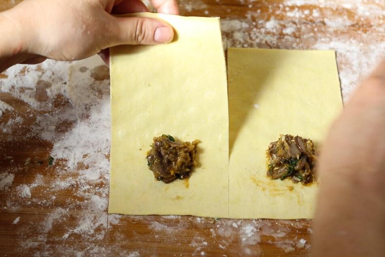 Butternut Squash Ravioli in a Red Pepper Cream Sauce