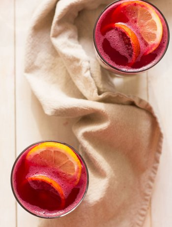 Boozy Beet & Pomegranate Lemonade