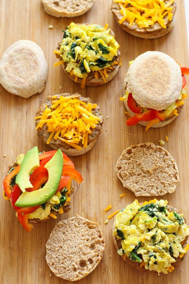 Freezer-friendly, Turkey Sausage Breakfast Sandwiches