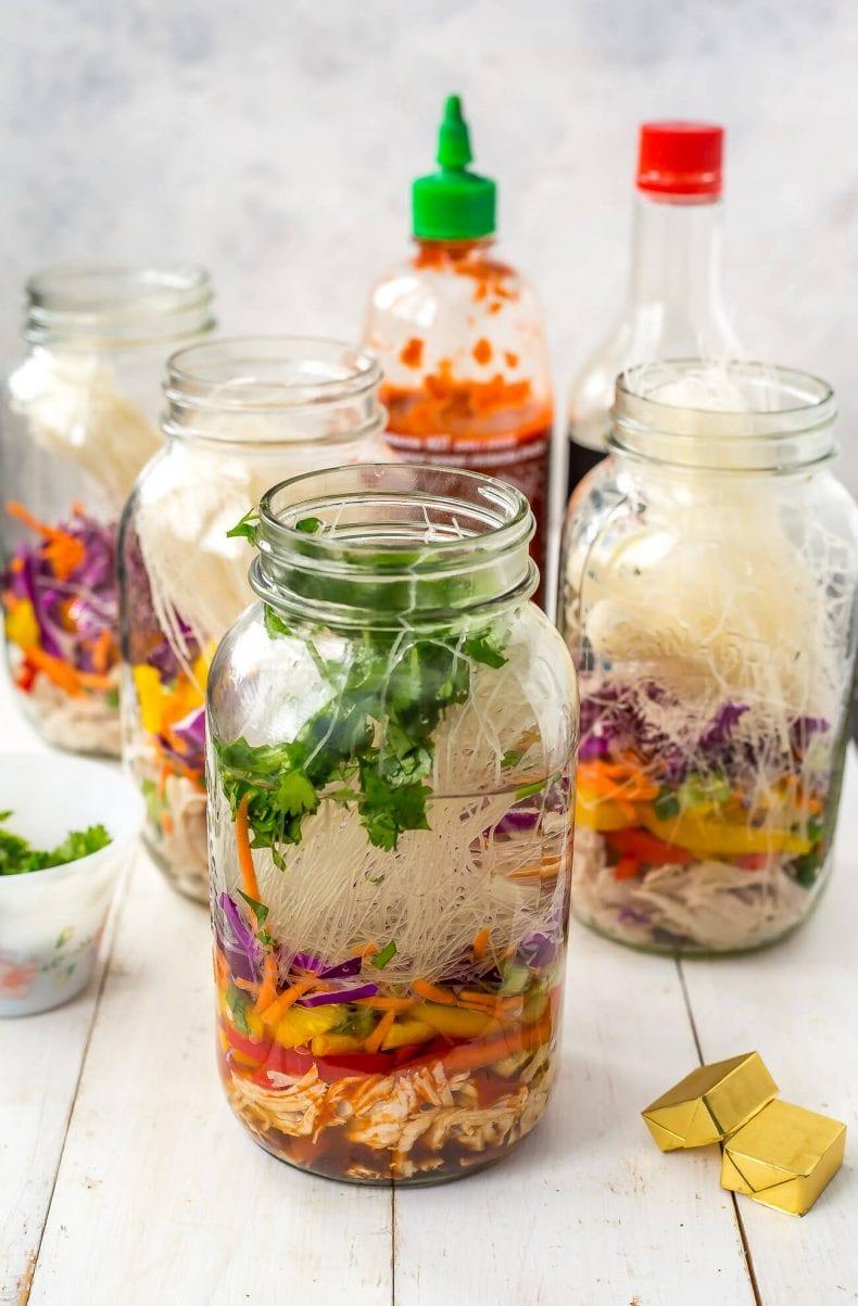 Mason Jar Instant Noodle Soups