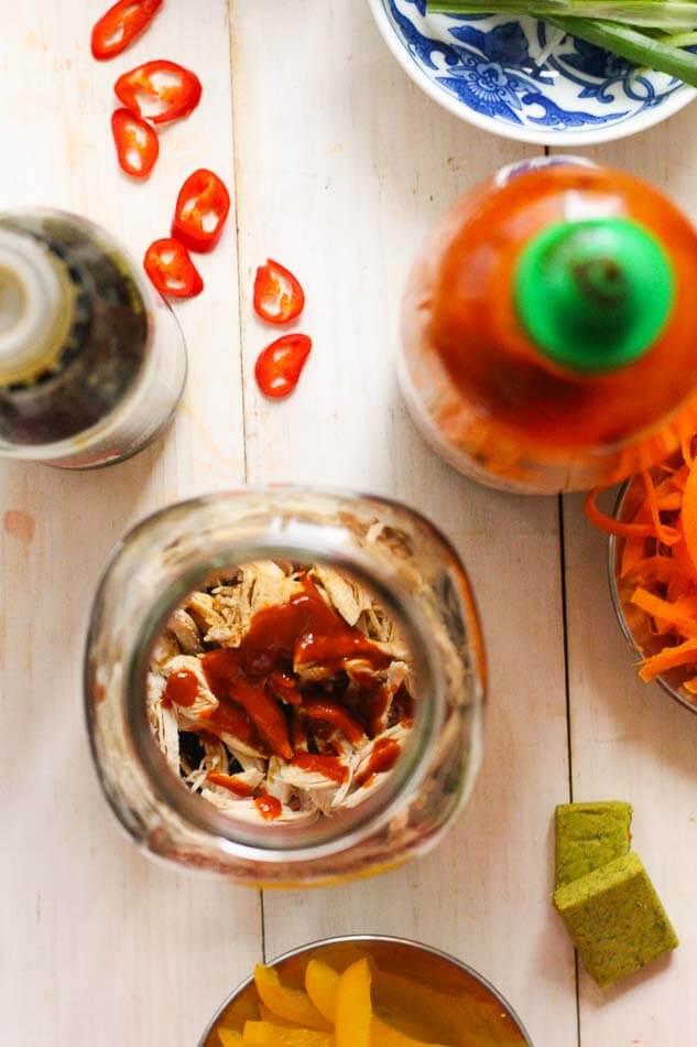 Mason Jar Instant Noodles