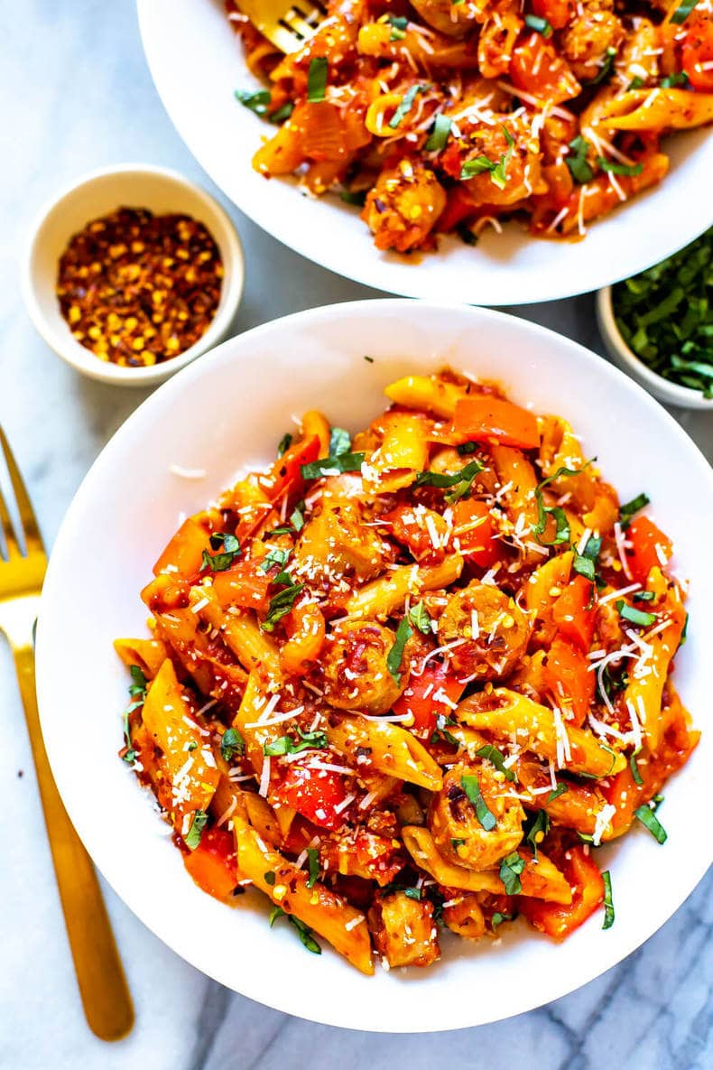 One Pot Spicy Penne Arrabiata