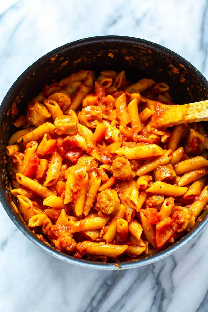 one-pot spicy pasta dinner