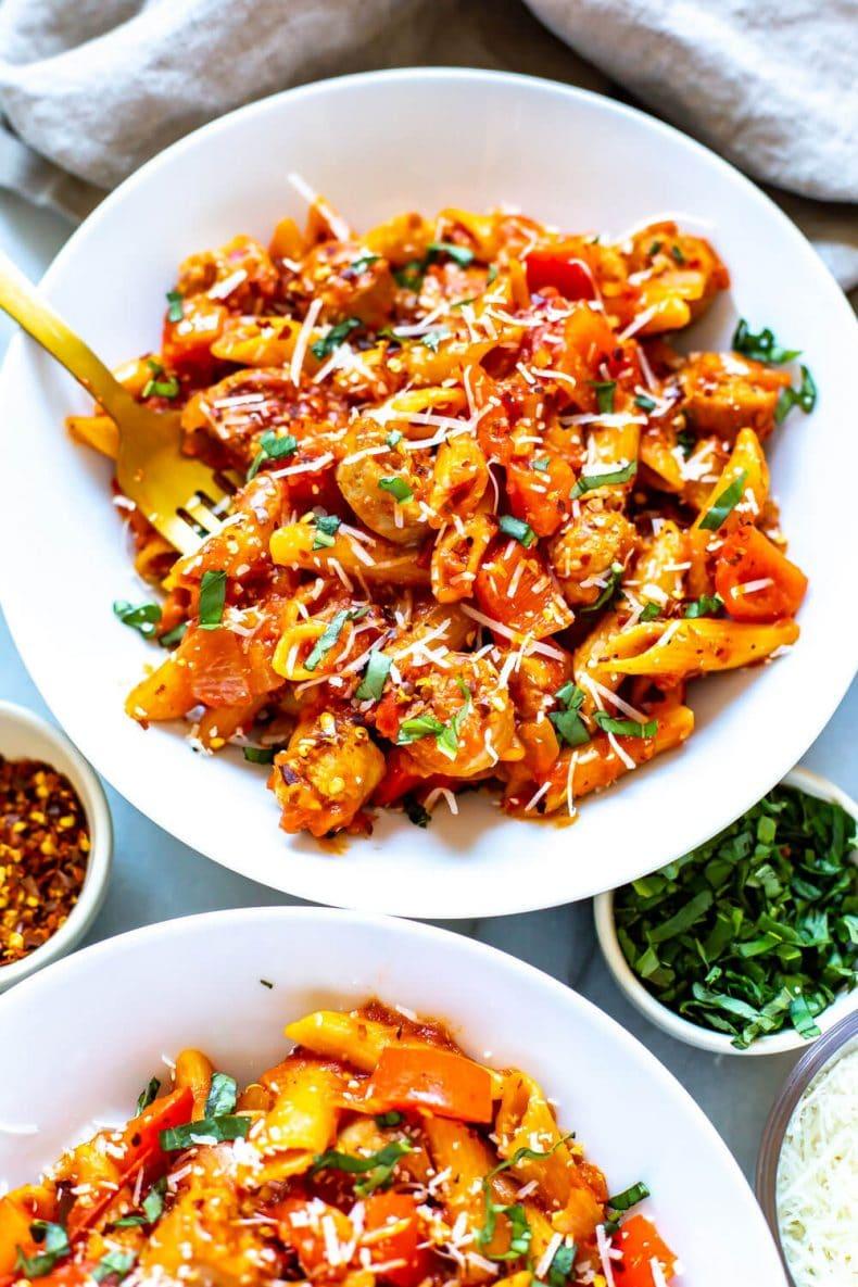 Spicy Penne Arrabbiata dinner