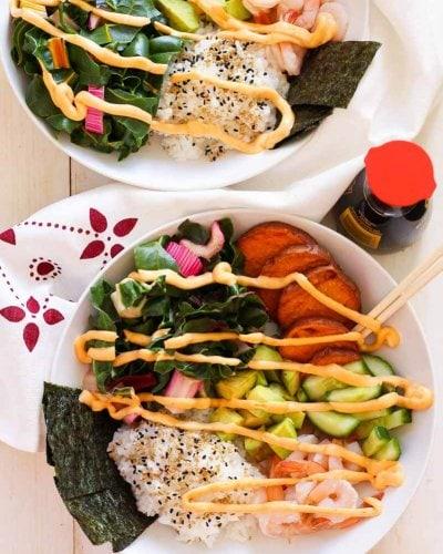 Shrimp Sushi Bowls with Spicy Mayo