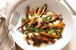 Sweet Potato Poutine with Vegetarian Gravy