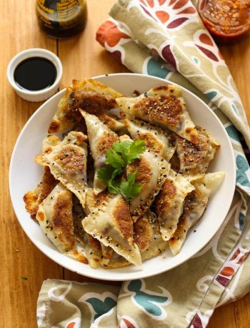 Chicken and Triple Mushroom Potstickers