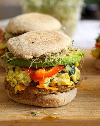 Freezer-friendly Turkey Sausage Breakfast Sandwich