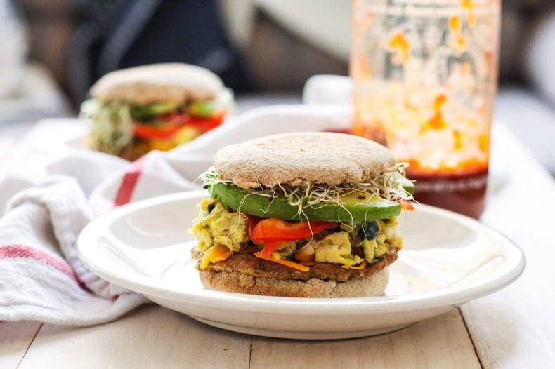 ... , Freezer-friendly, Turkey Sausage Breakfast Sandwich comes in handy