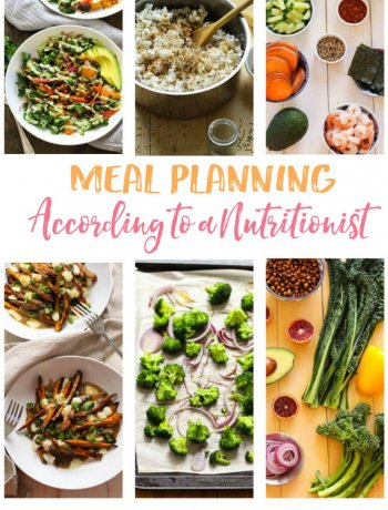 Meal Planning According to a Nutritionist