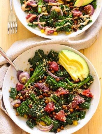 Blood Orange & Kale Salad with Freekeh