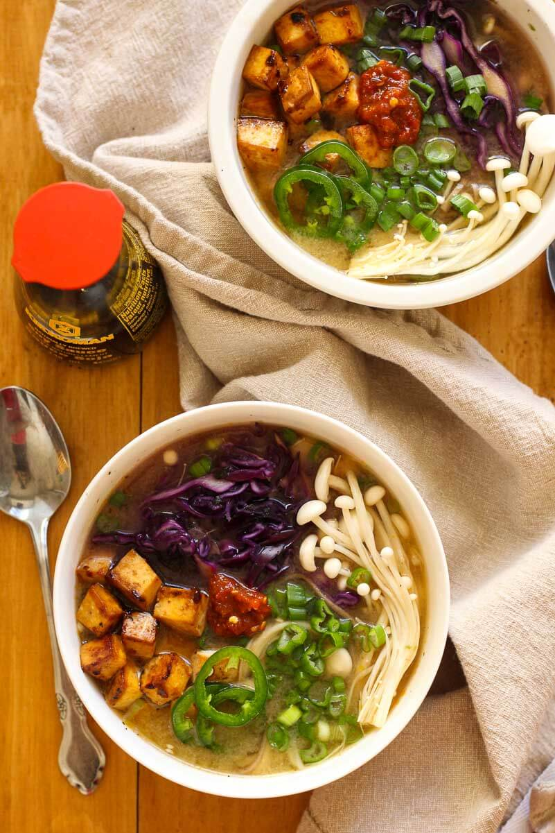 Easy Miso Soba Noodle Bowls