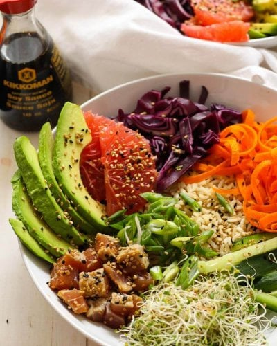 Easy Tuna Steak Poke Bowls