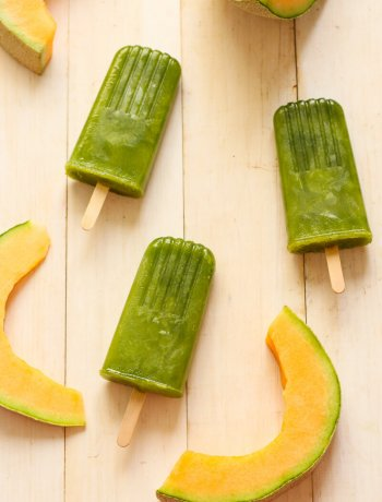 Cantaloupe and Cucumber Pops