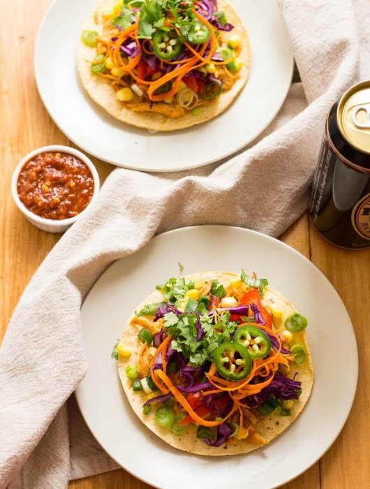 Korean Pulled Chicken Tacos