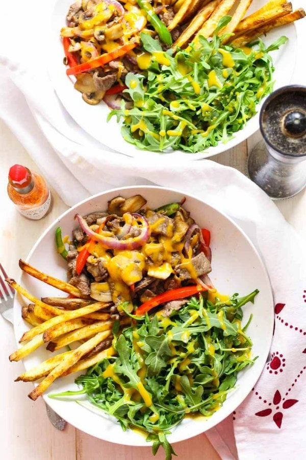 Philly Cheesesteak Salad Bowl