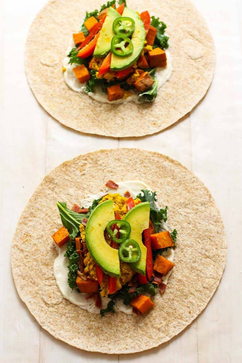 Chickpea, Sweet Potato & Avocado Freezer Wraps2