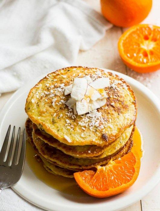 Quinoa, Coconut & Tangerine Protein Pancakes