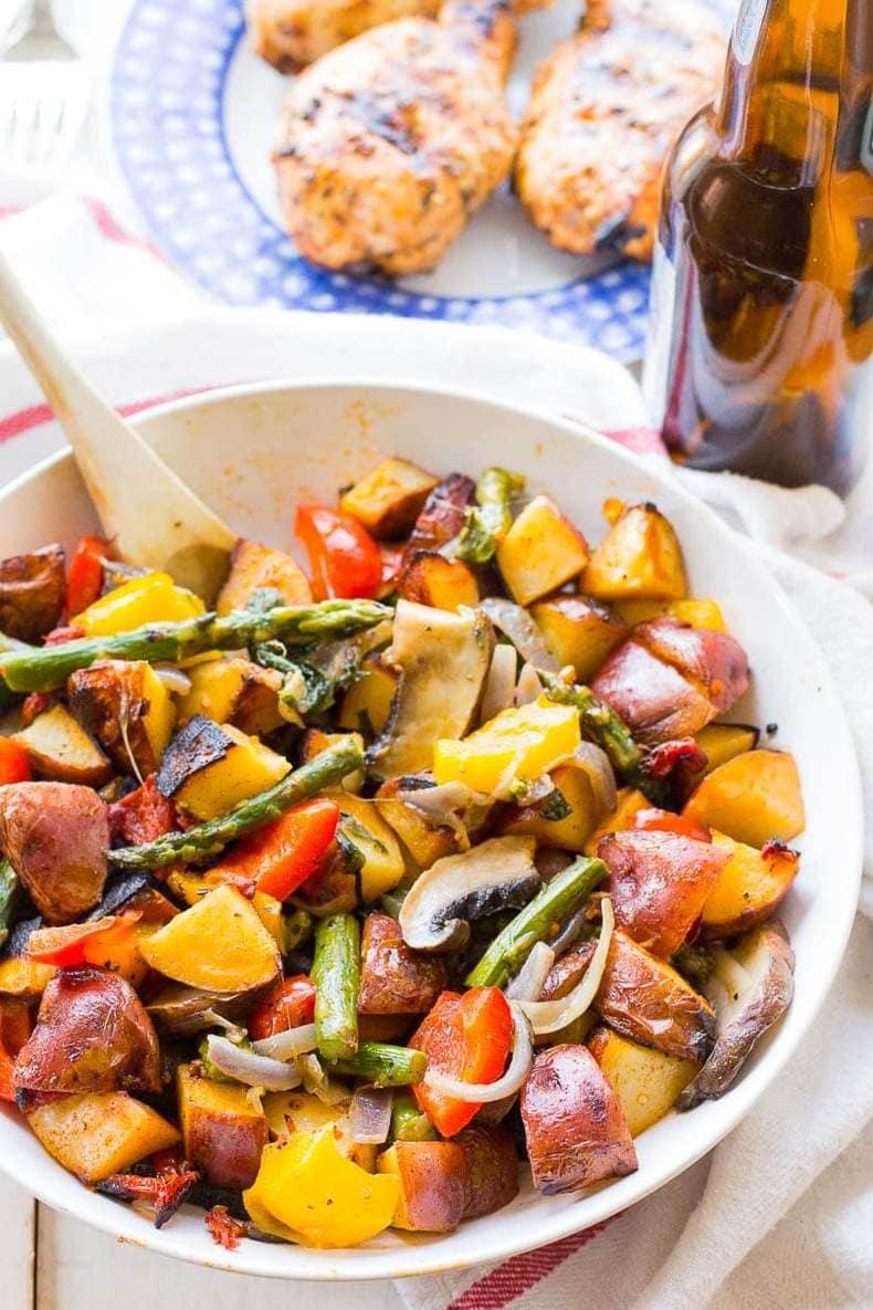 Spiced Vegetable & Potato BBQ Packs