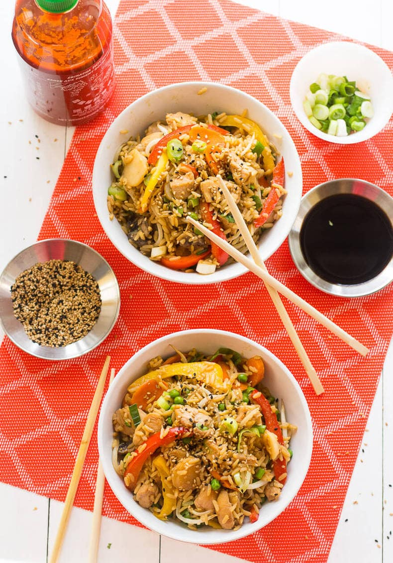 One Pot Chicken Teriyaki Bowls5