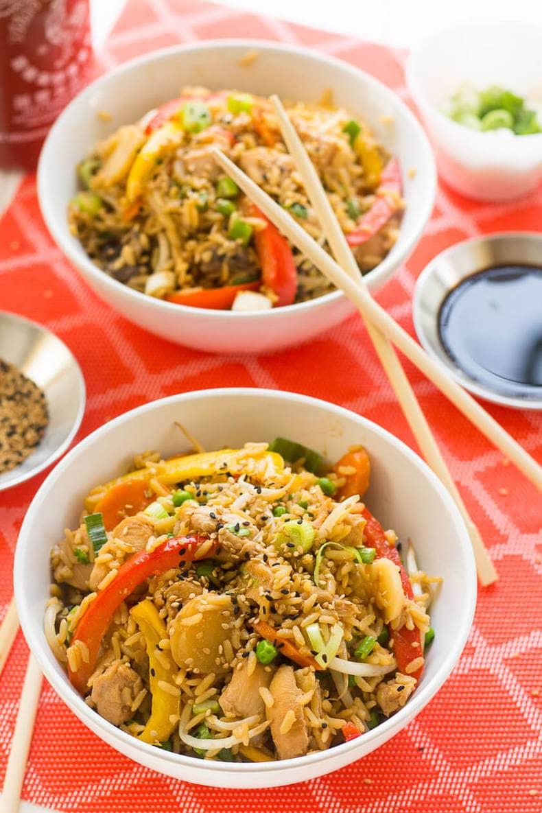 One Pot Chicken Teriyaki Bowls6