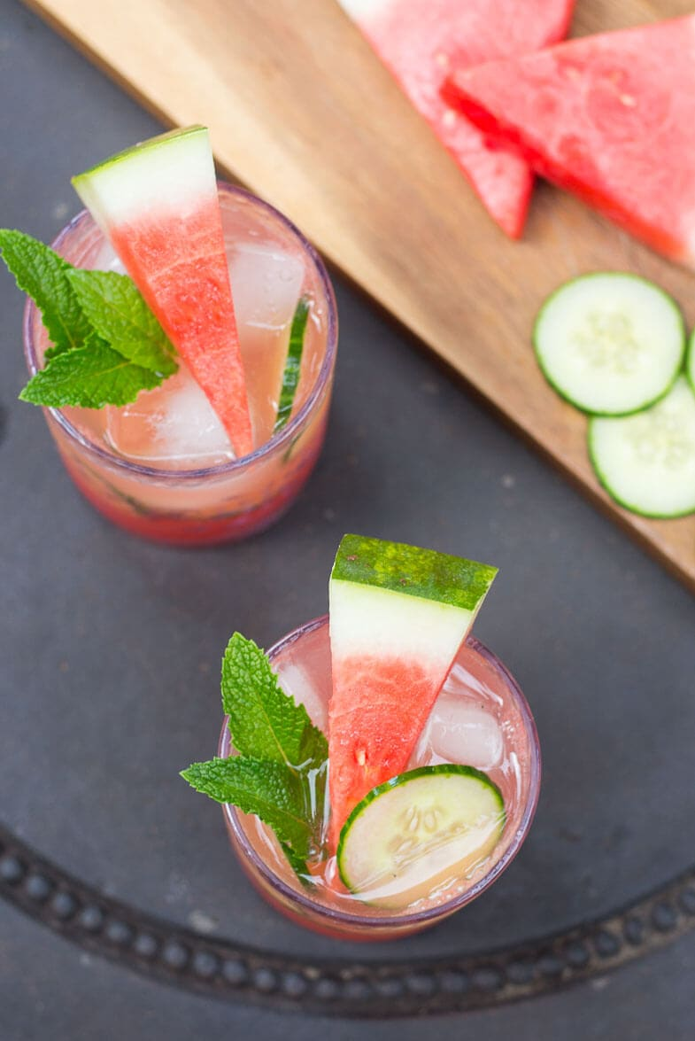 Watermelon & Cucumber Mojitos
