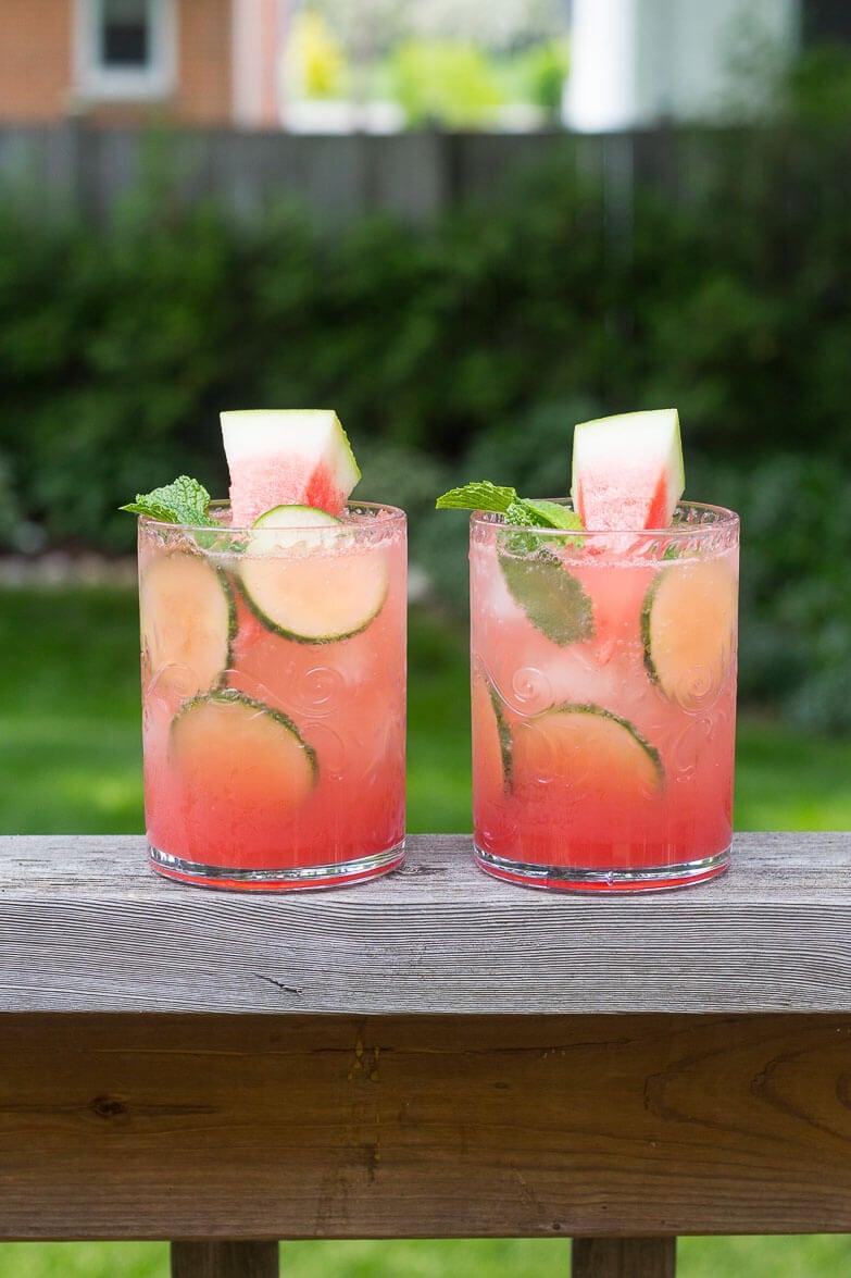 Watermelon & Cucumber Mojitos-7