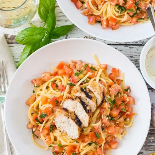 Chicken Bruschetta Linguine