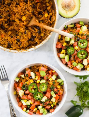 One Pot Beef Burrito Bowls