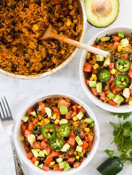 One Pot Beef Burrito Bowls