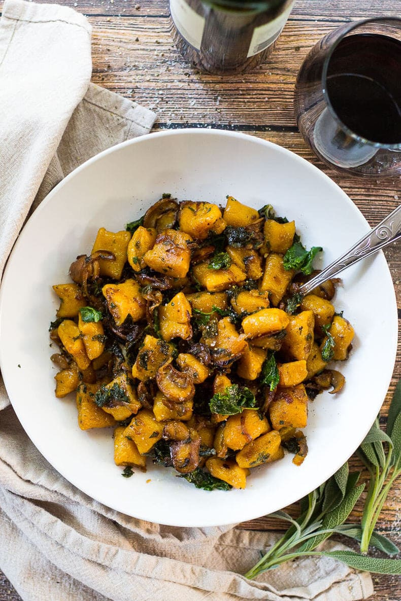 Brown Butter Butternut Squash Gnocchi with Sage