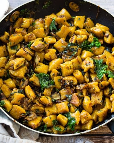 Brown Butter Butternut Squash Gnocchi with Sage (Video!)