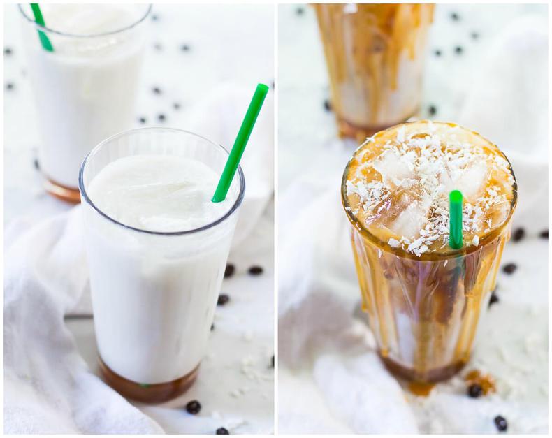 Iced Coconut Milk Caramel Macchiatos-15