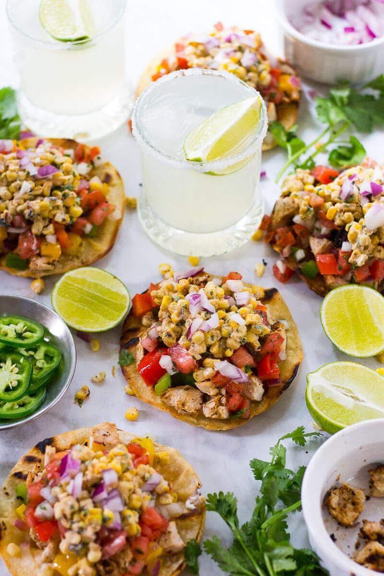 Mexican Street Corn Tacos with Cajun Chicken