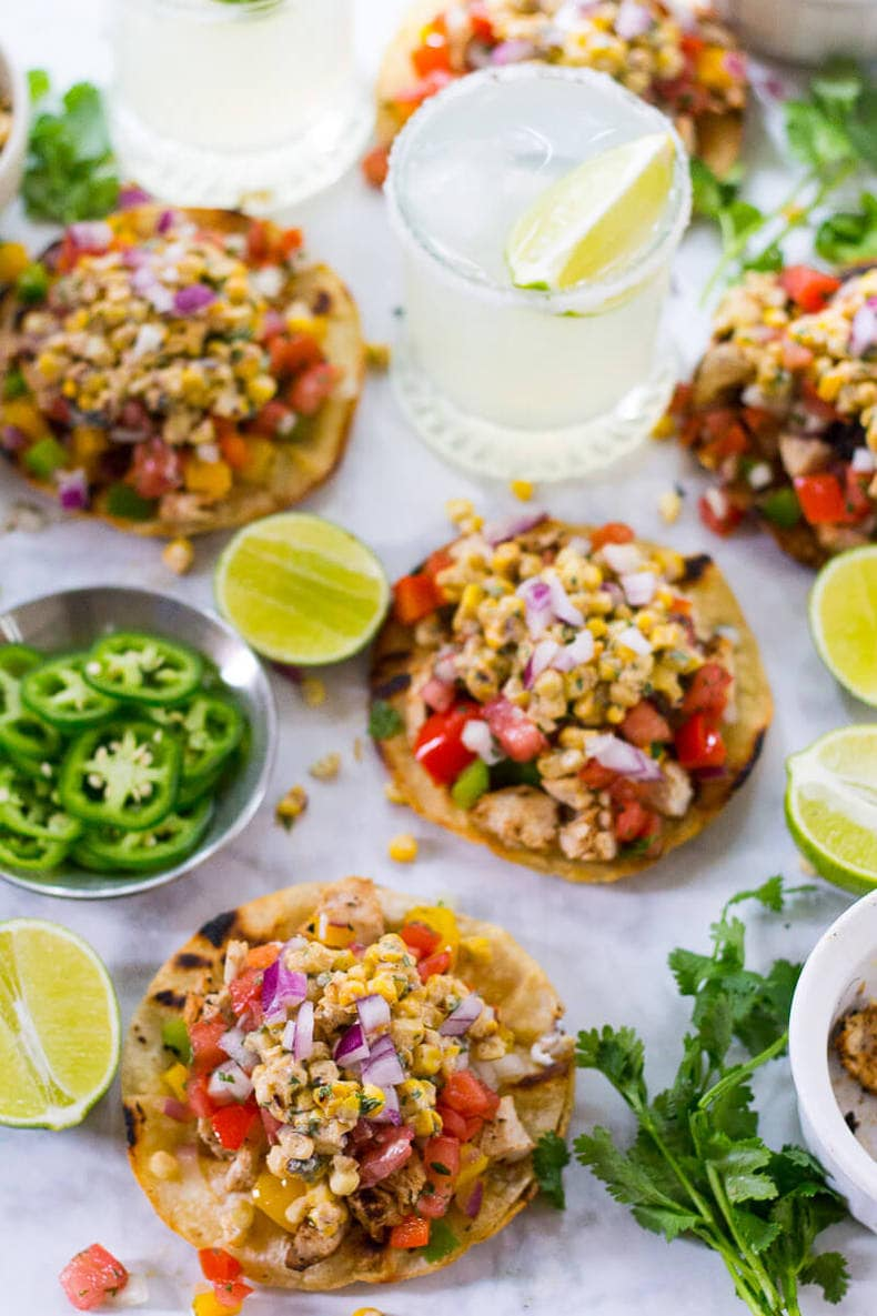 Mexican Street Corn Tacos with Cajun Chicken