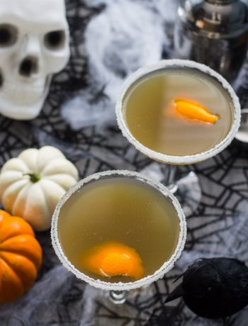 Pumpkin Chai and Liquorice Martinis