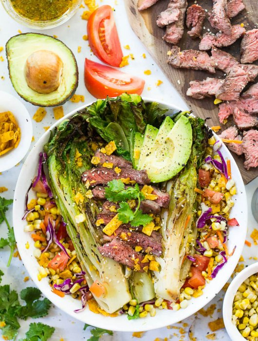 Southwest Steak and Grilled Romaine Salad