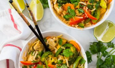Thai Red Coconut Curry Noodle Bowls
